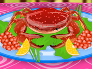 Crab Meal Decoration